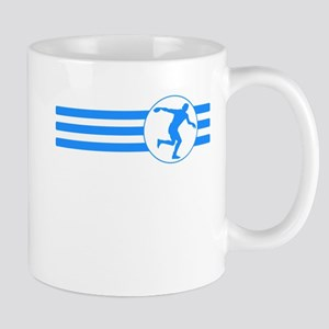 Discus Throw Stripes (Blue) Mugs