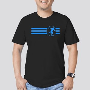 Discus Throw Stripes (Blue) T-Shirt