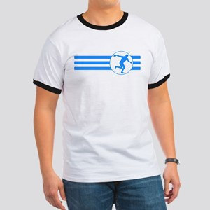 Discus Throw Stripes (Blue) T-Shirt