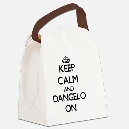 Keep Calm and Dangelo ON Canvas Lunch Bag
