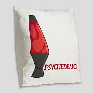 Psychedelic Burlap Throw Pillow