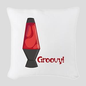 Groovy! Woven Throw Pillow