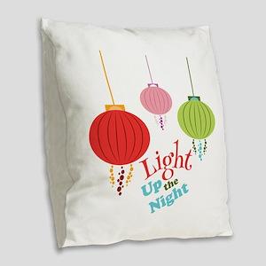 Light Up the Night Burlap Throw Pillow