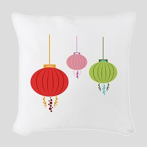 Hanging Lanterns Woven Throw Pillow