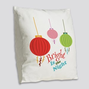 Bright is the Night Burlap Throw Pillow
