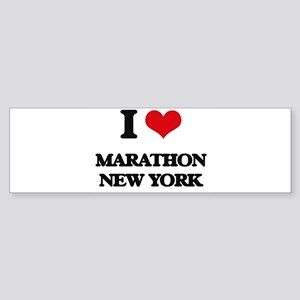 I love Marathon New York Bumper Sticker