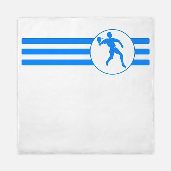 Racquetball Player Stripes (Blue) Queen Duvet