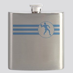 Racquetball Player Stripes (Blue) Flask