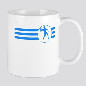 Racquetball Player Stripes (Blue) Mugs