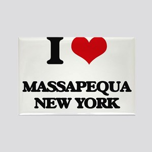 I love Massapequa New York Magnets