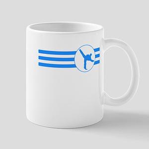 Karate Kick Stripes (Blue) Mugs