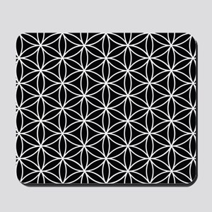 Flower Of Life Ptn Wb Mousepad