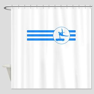 Pommel Horse Stripes (Blue) Shower Curtain