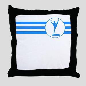 Balance Beam Stripes (Blue) Throw Pillow