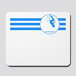 Gymnast Stripes (Blue) Mousepad