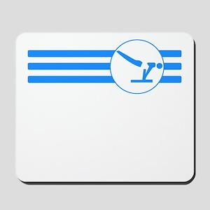 Gymnastics Stripes (Blue) Mousepad