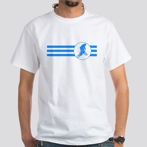 BMX Biker Stripes (Blue) T-Shirt
