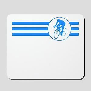 Cyclist Stripes (Blue) Mousepad