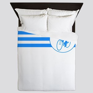 Cyclist Stripes (Blue) Queen Duvet