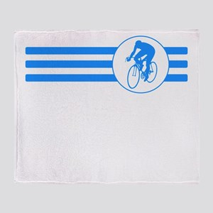 Cyclist Stripes (Blue) Throw Blanket