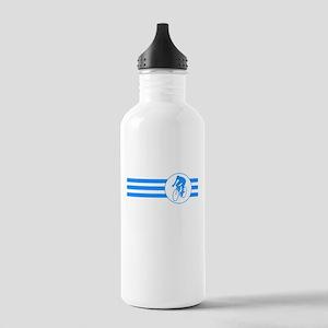 Cyclist Stripes (Blue) Water Bottle