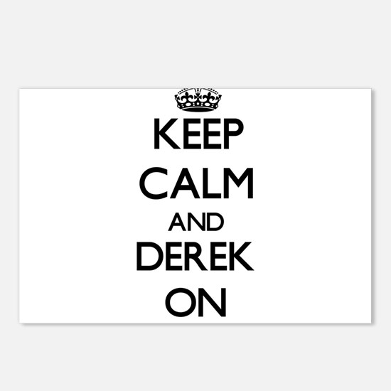 Keep Calm and Derek ON Postcards (Package of 8)