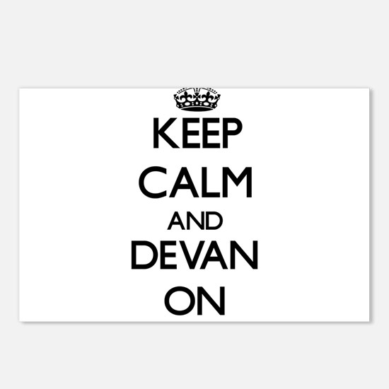 Keep Calm and Devan ON Postcards (Package of 8)