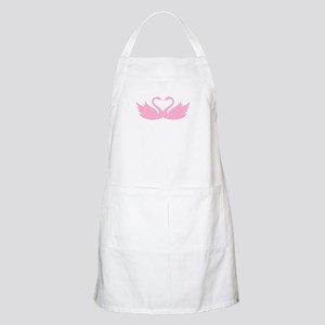 Pink swans heart Apron