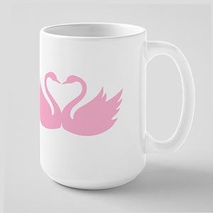 Pink swans heart Mugs