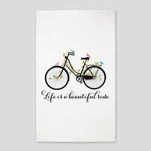 Life is a beautiful ride Area Rug