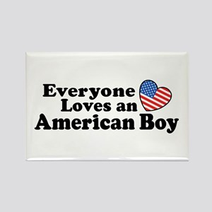 Everyone Loves an American Boy Rectangle Magnet