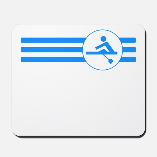 Rower Stripes (Blue) Mousepad