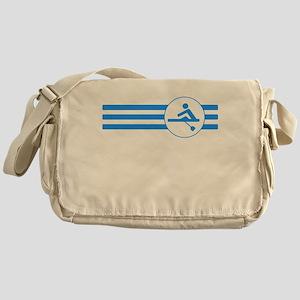 Rower Stripes (Blue) Messenger Bag