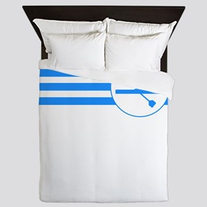 Rower Stripes (Blue) Queen Duvet