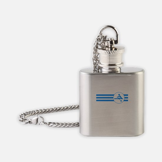 Rower Stripes (Blue) Flask Necklace
