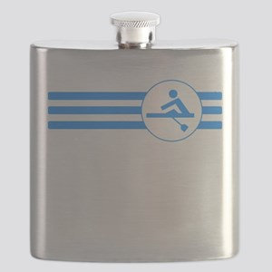 Rower Stripes (Blue) Flask