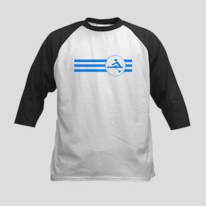 Rower Stripes (Blue) Baseball Jersey