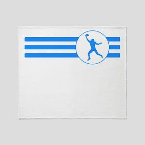 Wide Receiver Stripes (Blue) Throw Blanket