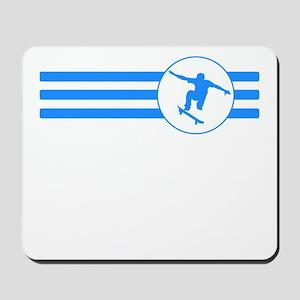 Skateboarder Stripes (Blue) Mousepad