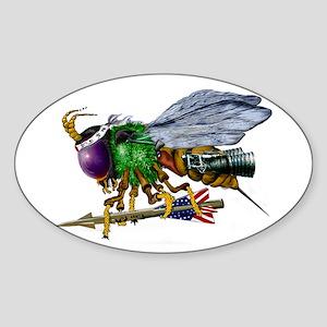 The American Killer Bee Sticker (Oval)