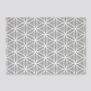 Flower Of Life Ptn W/gry 5'x7'area Rug