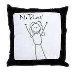 No Pants Throw Pillow