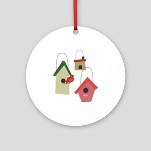 Bird House Ornament (Round)
