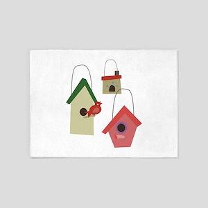 Bird House 5'x7'Area Rug