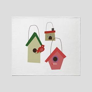Bird House Throw Blanket