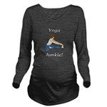 Yoga Junkie Long Sleeve Maternity T-Shirt