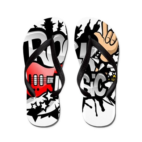 rock n roll flip flops cafepress rh cafepress com Thrash Metal Band Logos Glam Metal Band Logos