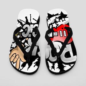 Rock Music Flip Flops