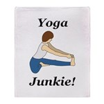 Yoga Junkie Throw Blanket
