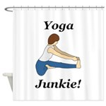 Yoga Junkie Shower Curtain